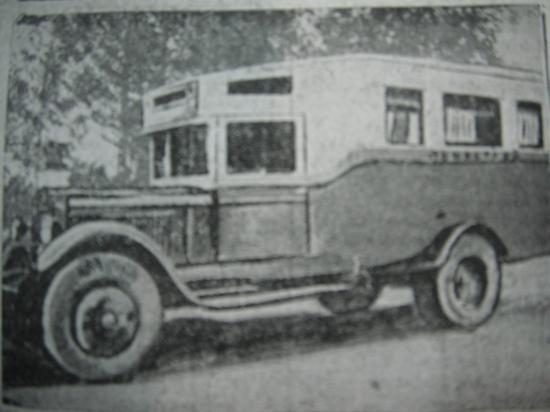 новый автобус Вологдасельстроя, фото из газеты
