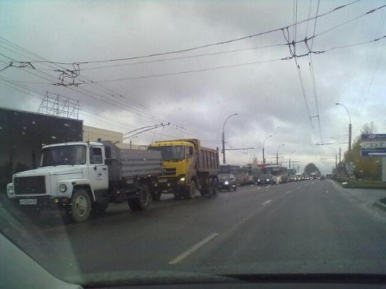 Огромная пробка на Окружном-Гагарина