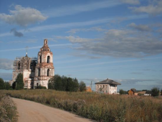 дорога к храму Василия Великого на Едке