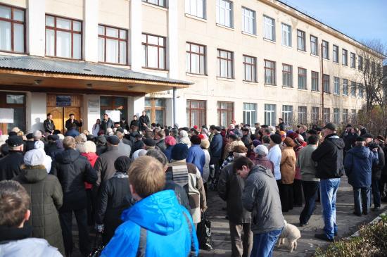 Жители Лукьяново провели митинг в поддержку строительства моста (ВИДЕО)