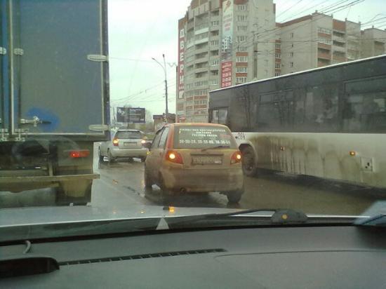 Непонятное столкновение на Пошехонском шоссе
