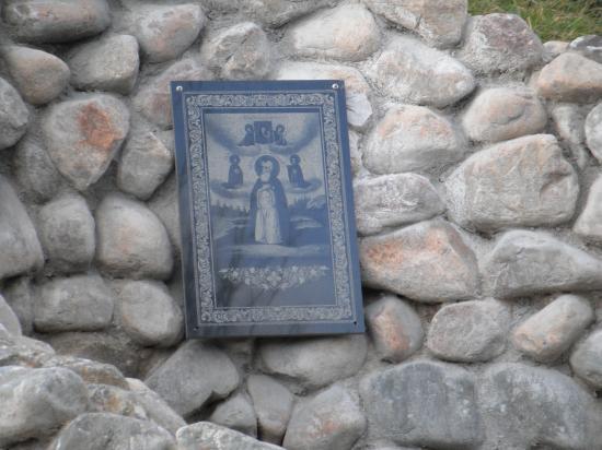 икона преподобного Иосифа на камне
