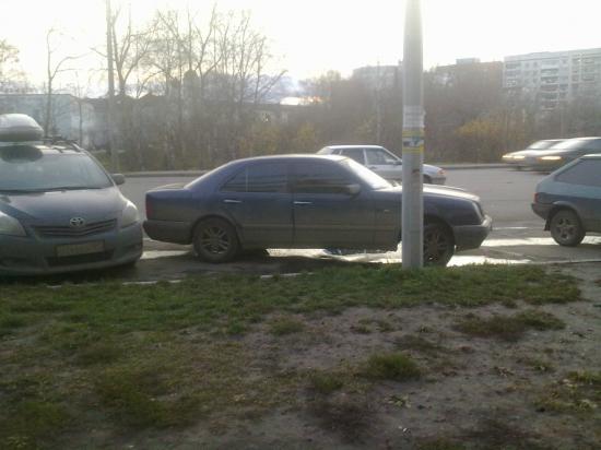 Еще один виртуоз парковки