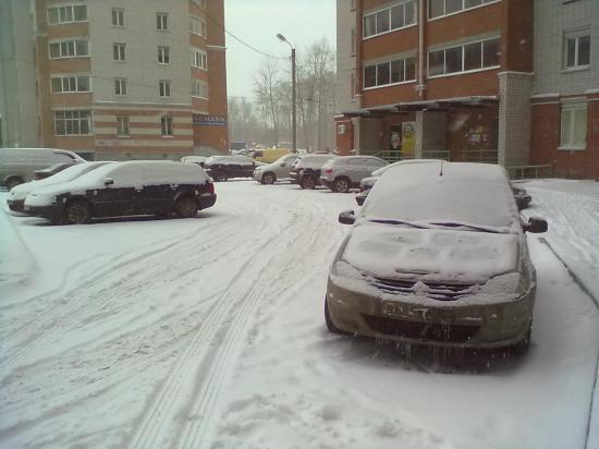 Вот тебе и раз...Выпал снег!