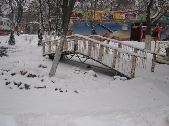 детский парк стал каким-то пушистым...