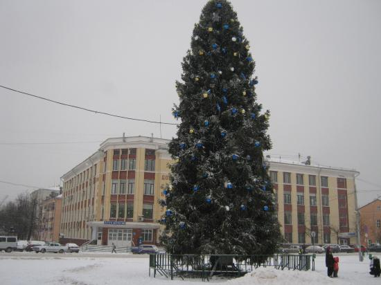 Даже елка стала смотреться естественнее, когда вокруг снег!