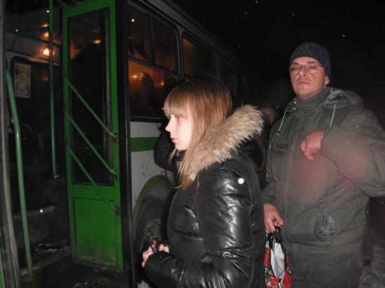 пассажиры автобуса вышли в Майском