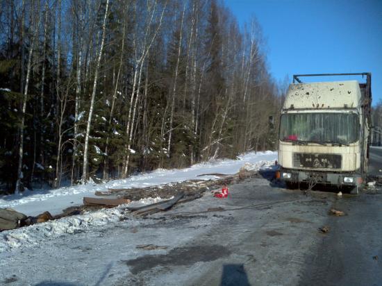 Происшествие на трассе Вологда-Ярославль