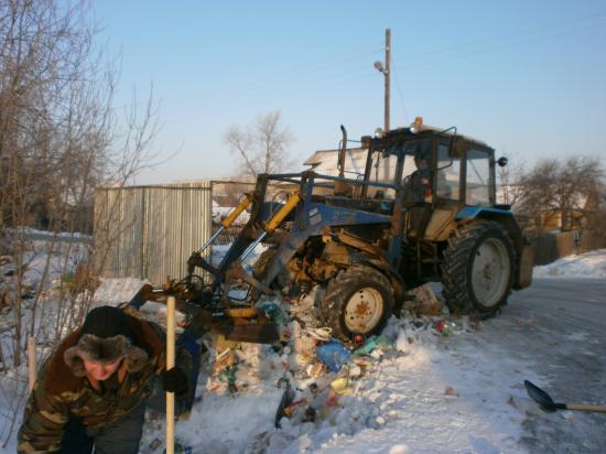 без трактора пришлось бы очень туго...