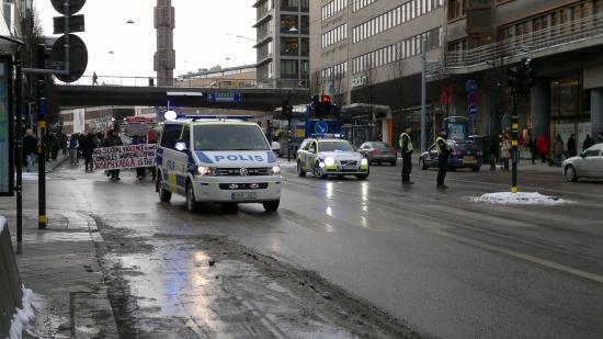 Шел по улицам Стокгольма обычный шведский митинг (ВИДЕО)