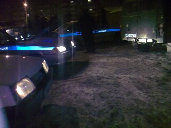 Работы полиции хватило на всю ночь...