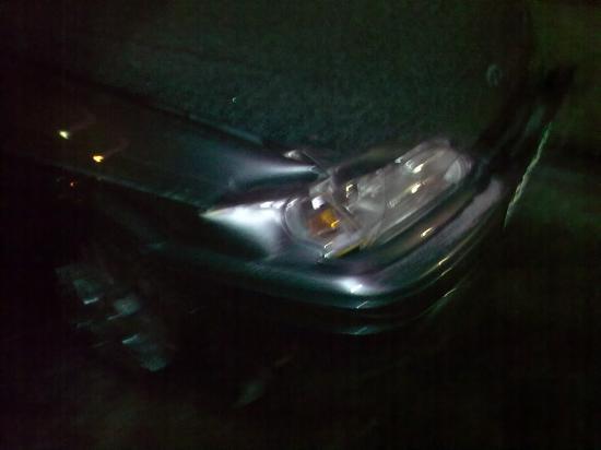 Этой машине всего 4 месяца. Похоже, она пострадала меньше всех!