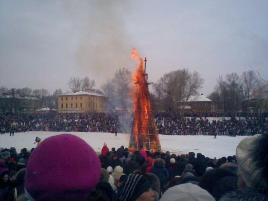 Сжигание Масленицы.
