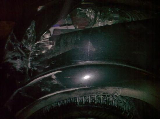 Машина нарушителя, который разбил пять машин