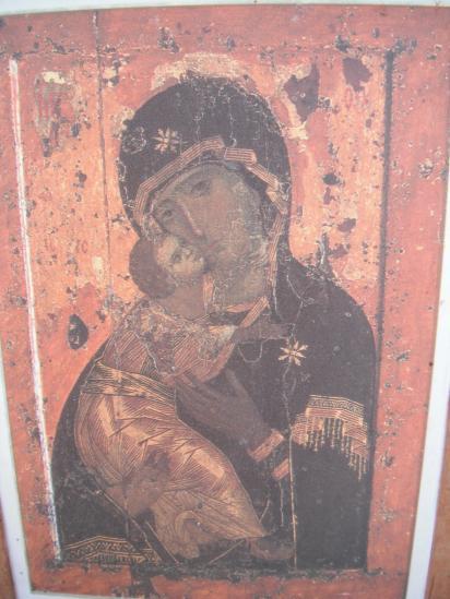Найденная икона Владимирской божьей матери.