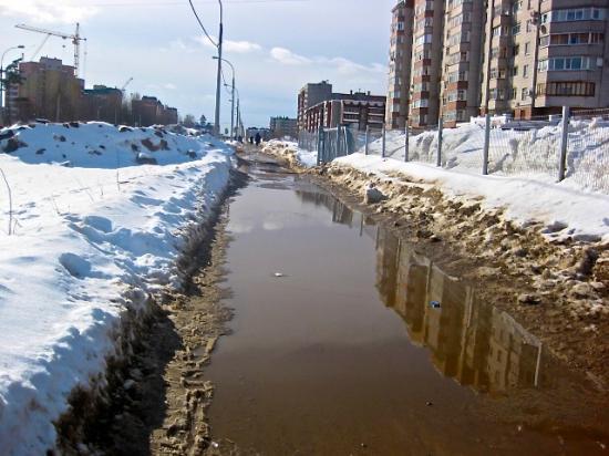 Череповец, улица Городецкая в сторону Гритинской горки 17 марта 2012