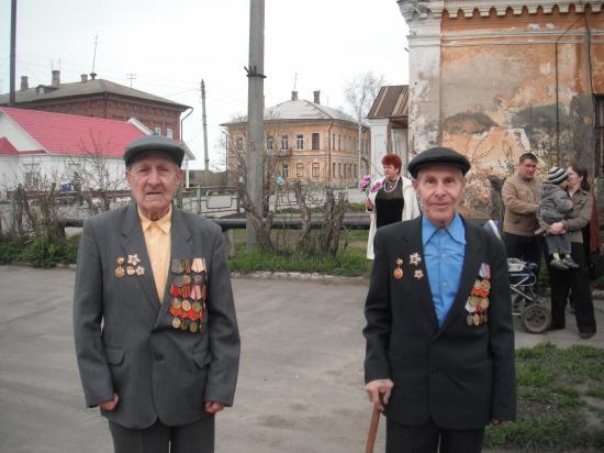 ветераны войны.