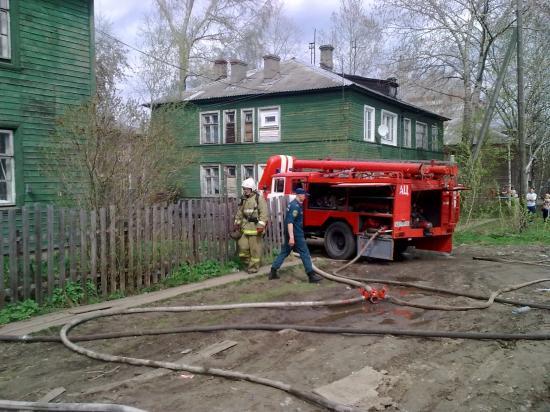 Пожар на улице Народной