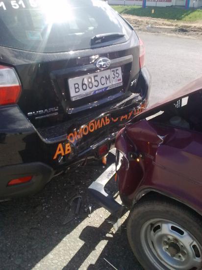 Авария ВАЗ-2106 и SUBARU