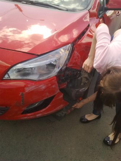 Авария с участием трех машин