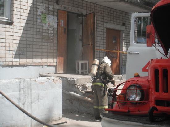 Возгорание в подвале дома