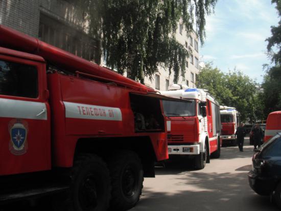 пожарные машины прибыли во время