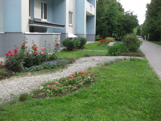 Оформление двора
