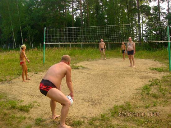 Волейбольный мяч и сетка