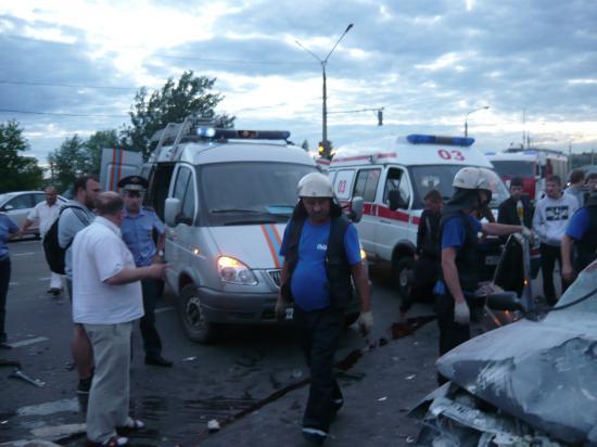 Авария в Череповце 16 июля