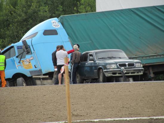 ДТП на Ленинградском шоссе перед постом ДПС