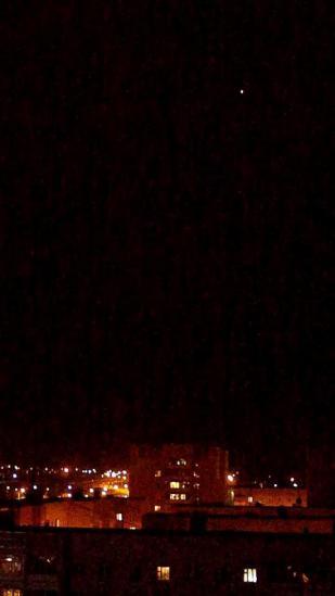 Неопознанный обьект пролетающий над Вологдой в 22-30, 17.08.2012