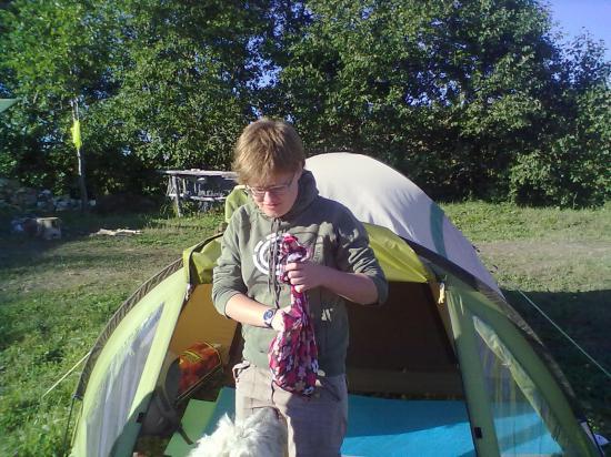 Наде выделили отдельную палатку