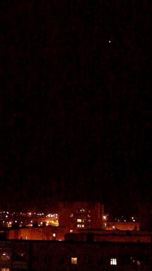 Вот такие огни увидел Николай в небе над Вологдой