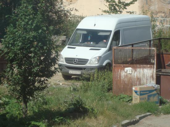 Эту контейнерную площадку на улице Ильюшина постоянно атакуют местные бомжи и животные