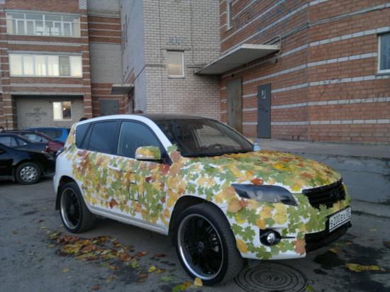 Осенний автомобиль!
