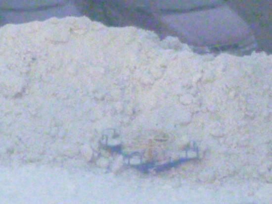 Уборка снега на парковке