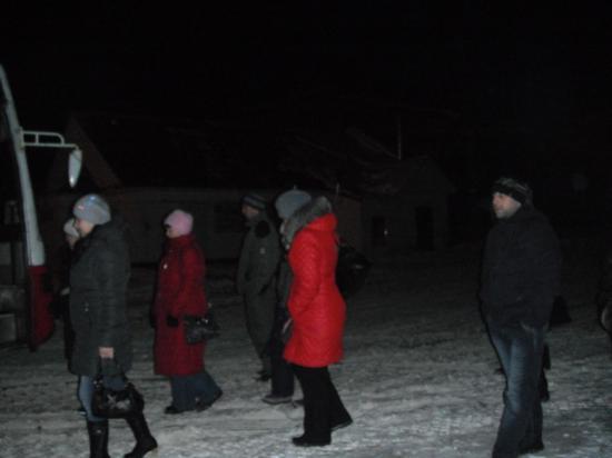 почти два часа простояли около автобуса,ладно ещё погода тёплая.
