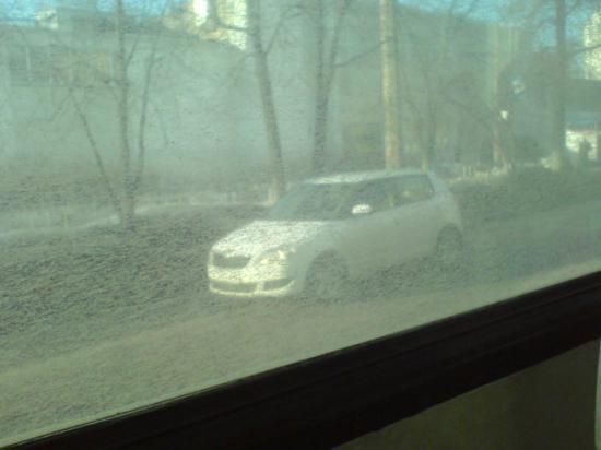Из окна троллейбуса маршрута №5 -