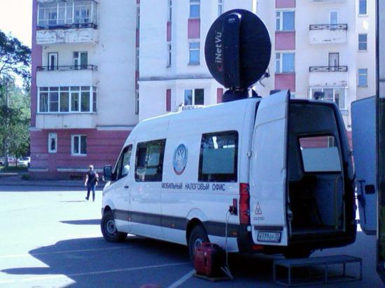 Мобильный налоговый офис работает сегодня на ул. Горького