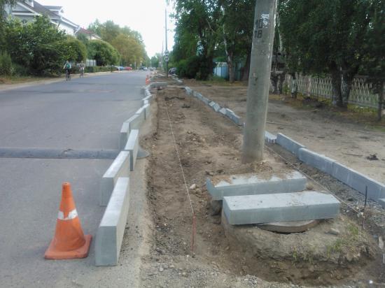 Новые тротуары на улице Воровского