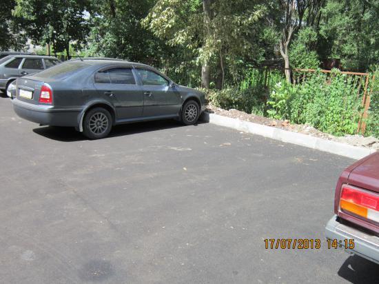 Тоже расширенная парковка.