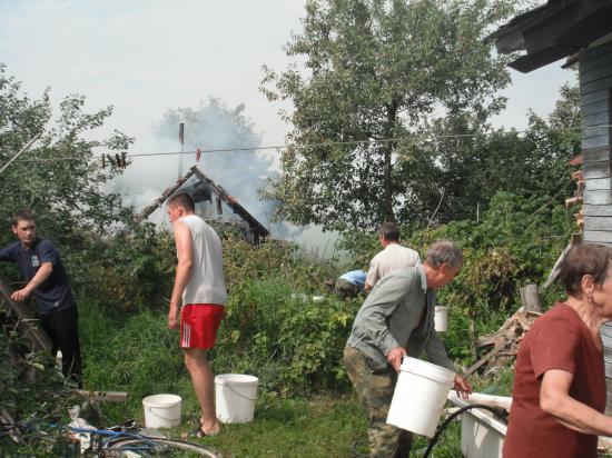 Пожар в бане.
