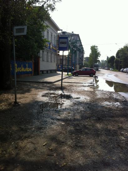 Ремонт на ул. Воровского - рано радовались