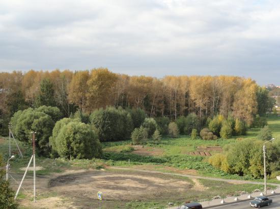 Вот так берег реки выглядел в сентябре, до работы Зеленстроя.