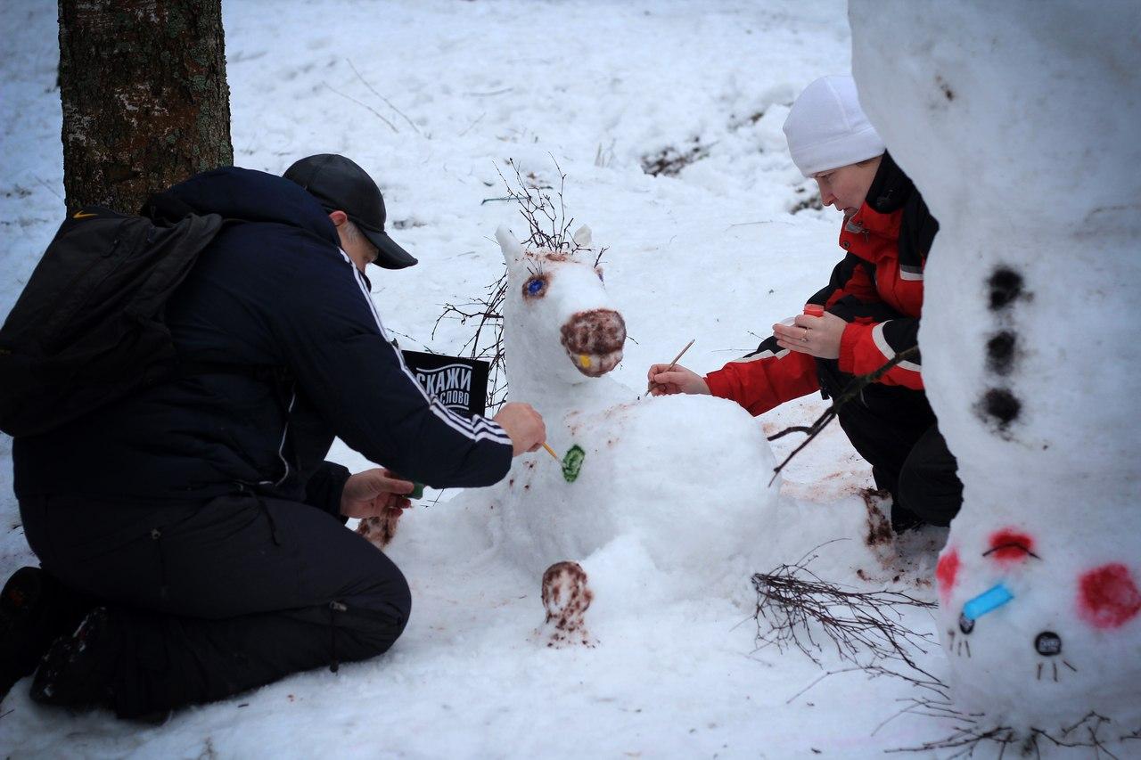 Tele2 совместно в вологжанами украсили Парк мира  к новогодним праздникам