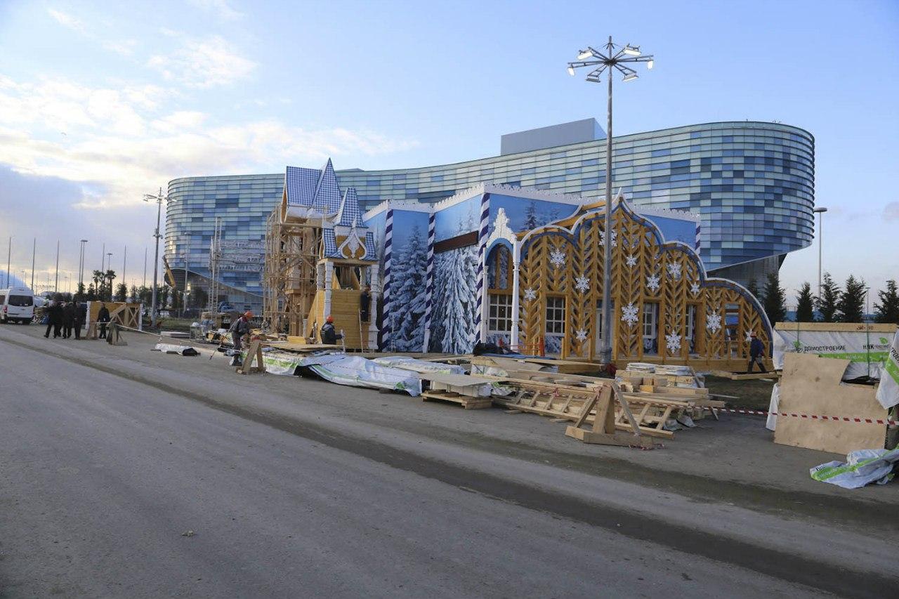Резиденцию Деда Мороза в Сочи готовят к открытию