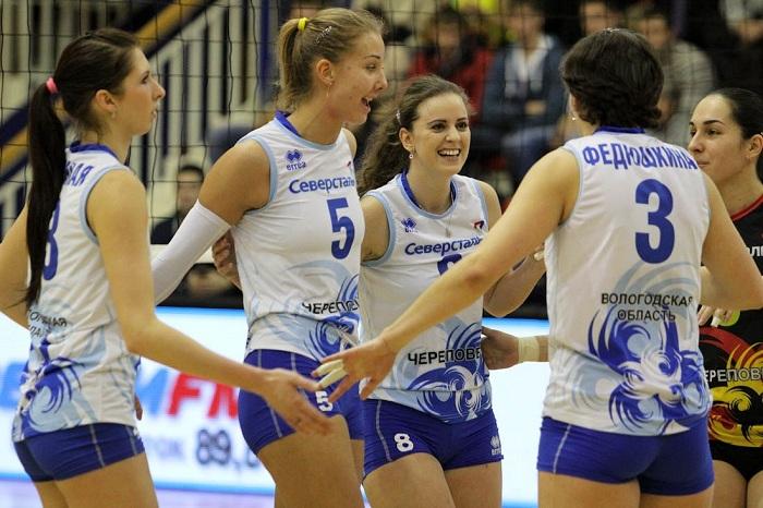 Женская волейбольная «Северсталь» выиграла Чемпионат центрального федерального округа