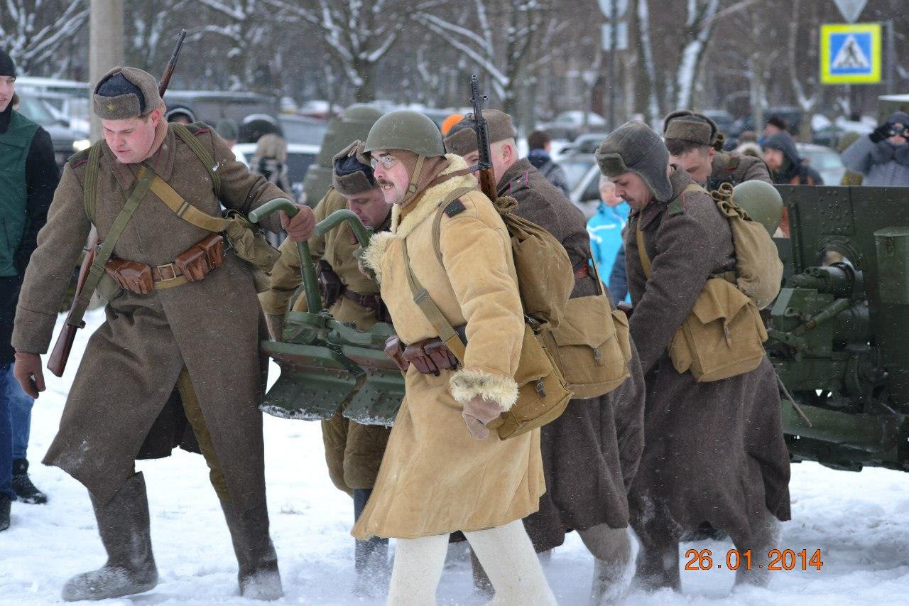 Вологжане приняли участие в реконструкции блокады Ленинграда