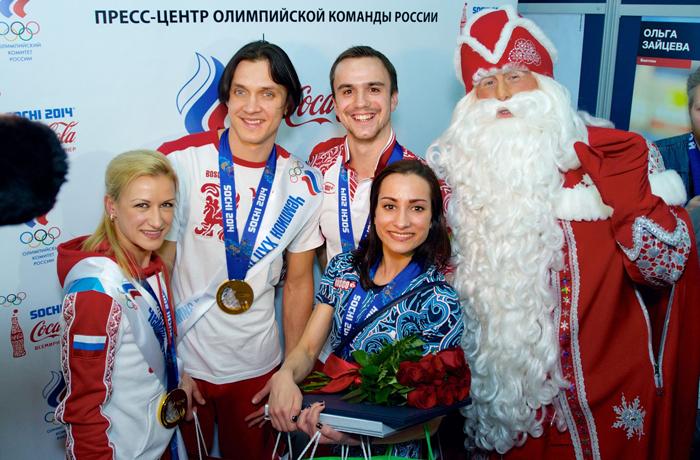 Дед Мороз поздравил российских фигуристов