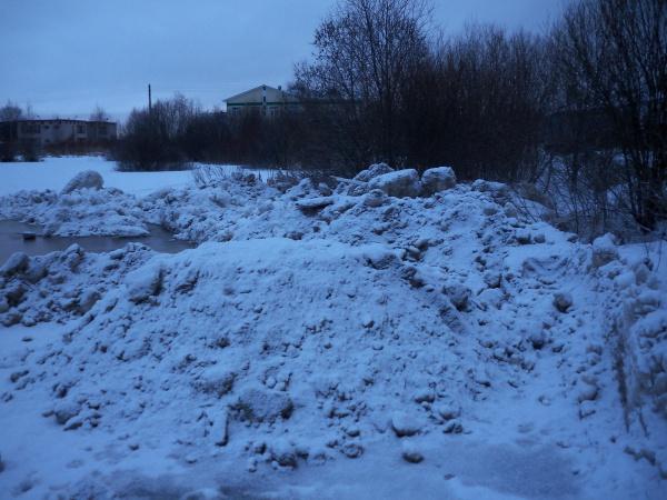 Улицы убрали, а снег в пруд, зато бесплатно.